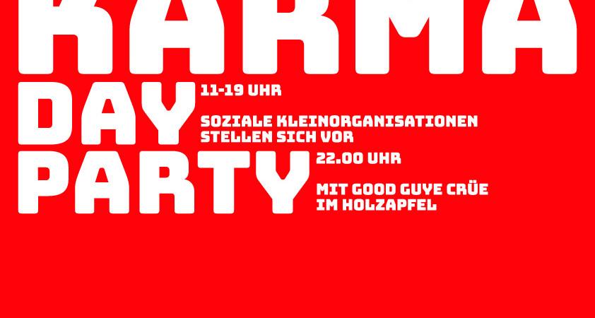 Das Plakat des Fluxus Karma Day am 13. Mai
