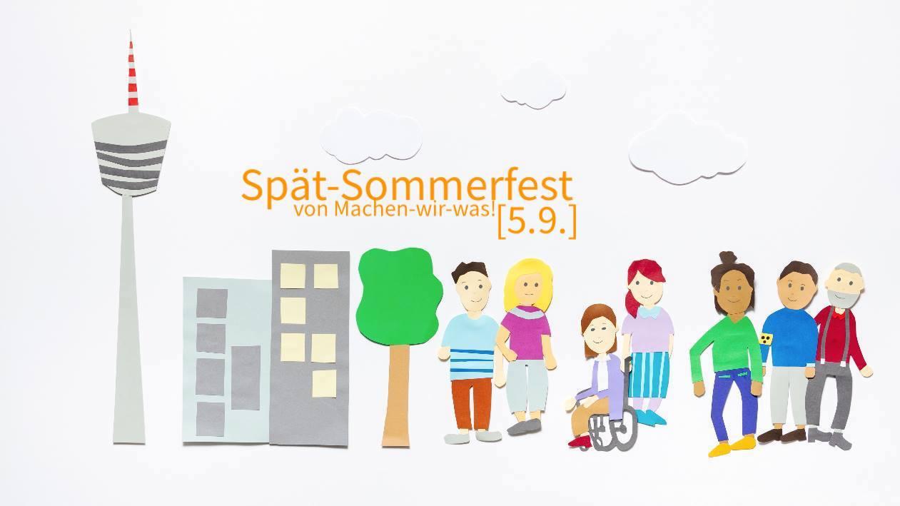 Die kleinen Männchen und Gebäude von Stuttgart aus dem Erklärfilm sind zu sehen.